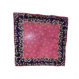 """Accessories - 3/$18. Pink Scarf w/Flowers Motif 16"""" Square"""